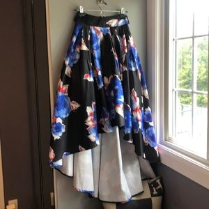 Gracia floral high low skirt. Brand new